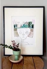 Emerald Portrait Print