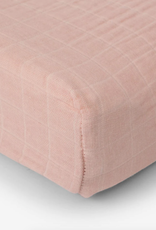 Cotton Muslin Changing Pad Cover - Rose Petal