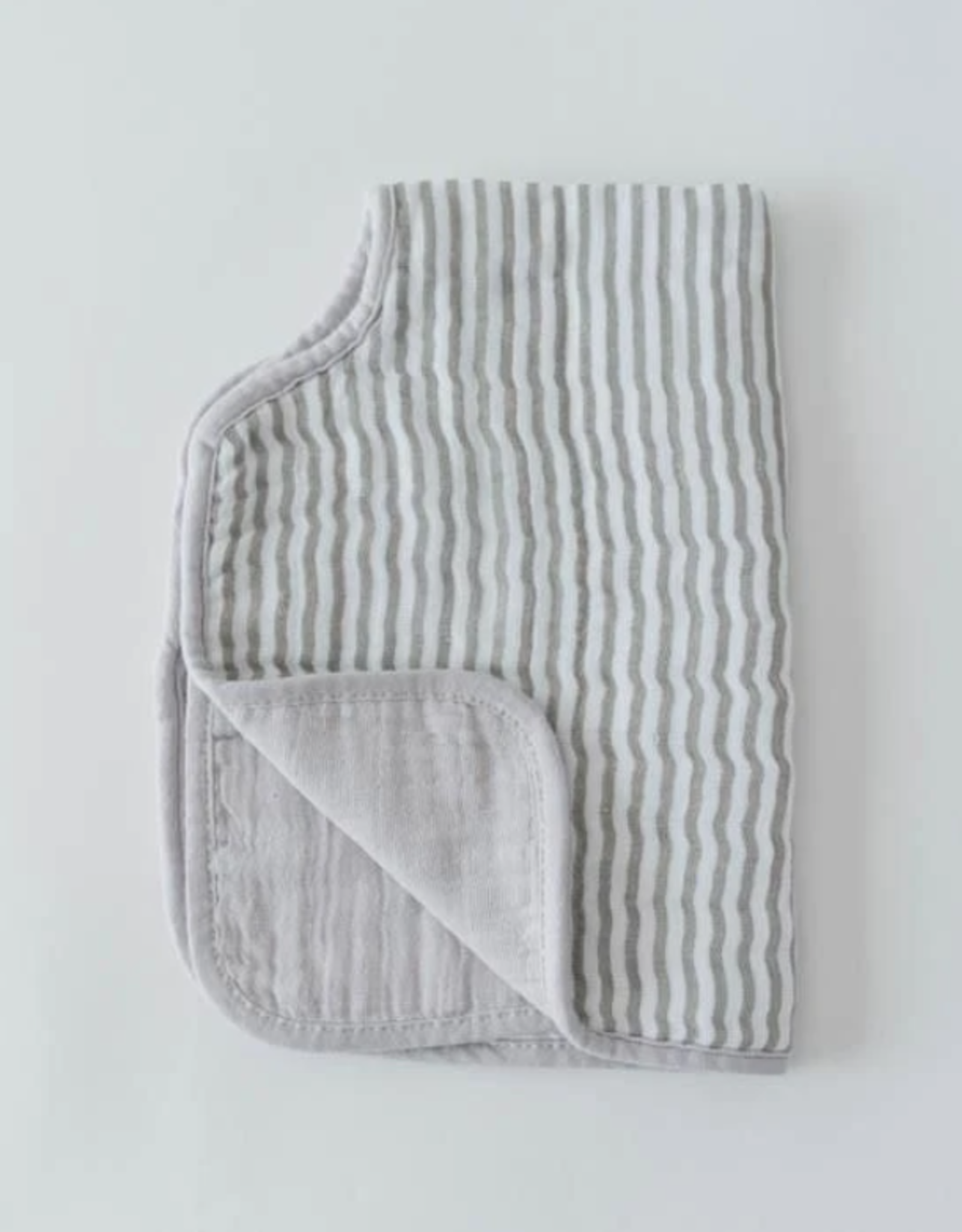 Cotton Muslin Burp Cloth - Grey Stripe