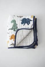 Cotton Muslin Quilt - Dino Friends