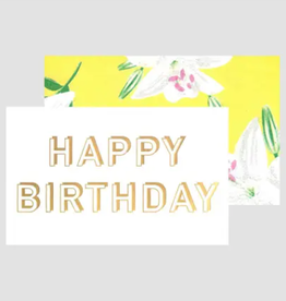 Gold Birthday Card