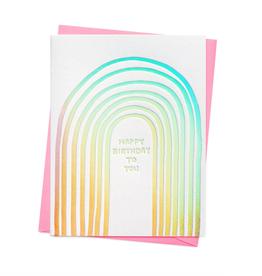 Rainbow Birthday to You Card