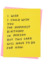 Birthday in Person Card