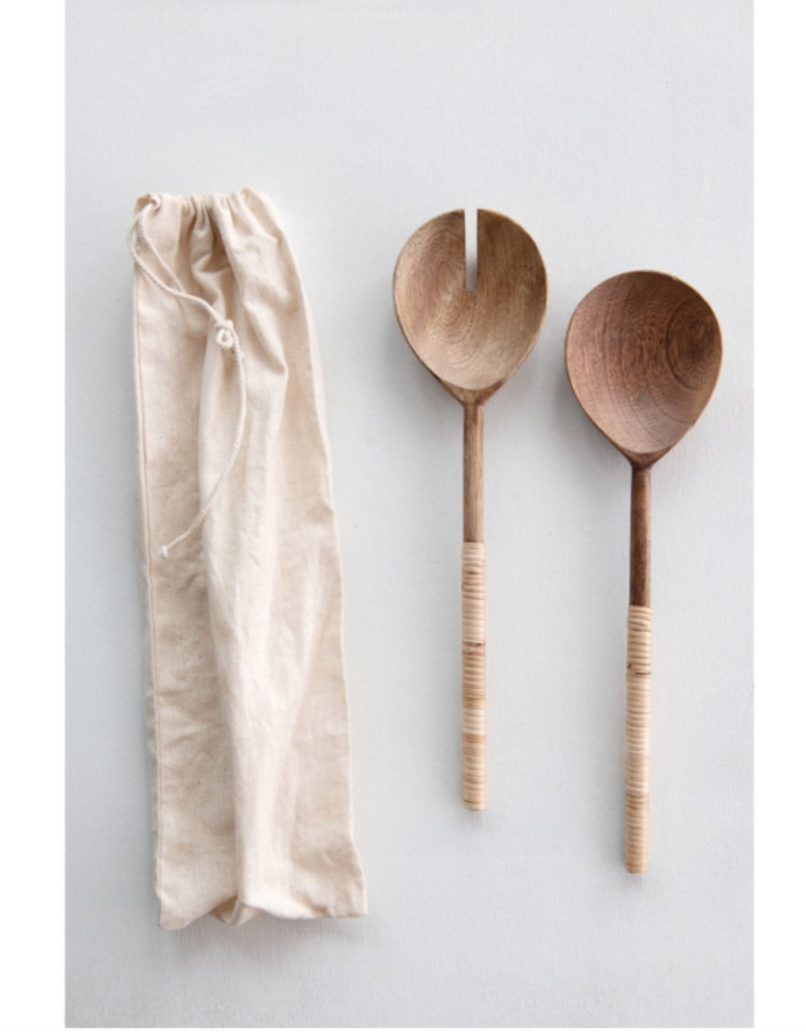 Bamboo + Wood Salad Servers