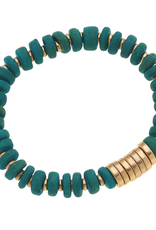 Henley Bracelet in Green Turquoise Wood