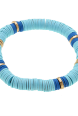 Emberly Bracelet - Aqua Polymer Clay