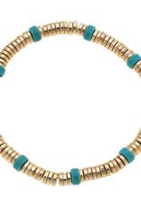 Luca Bracelet - Turquoise & Worn Gold
