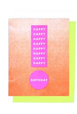 Happy Birthday Exclamation Card