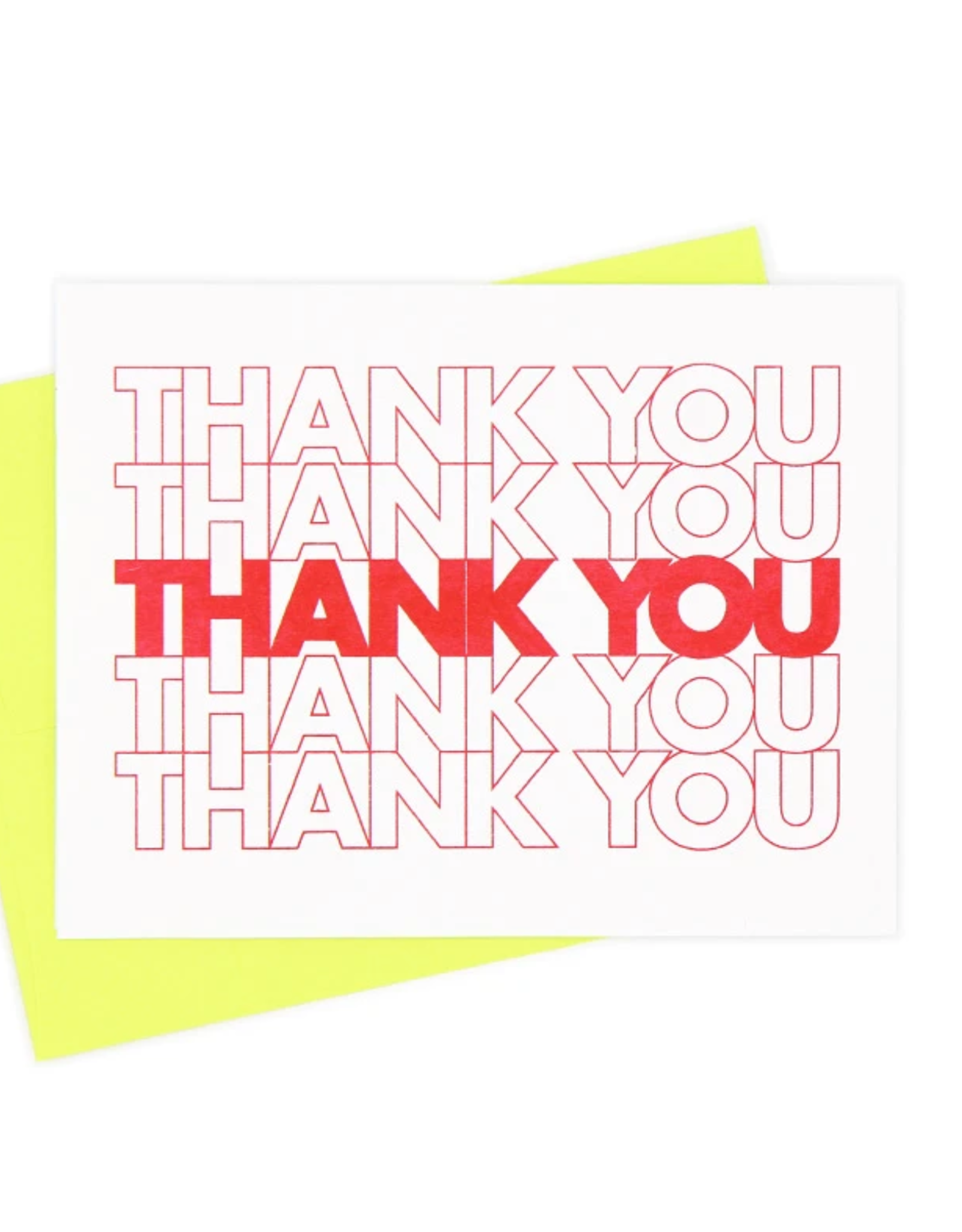 Thank You Bag Card
