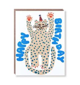 Party Cheetah Birthday Card
