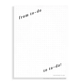 To-Do Ta-Da Notepad