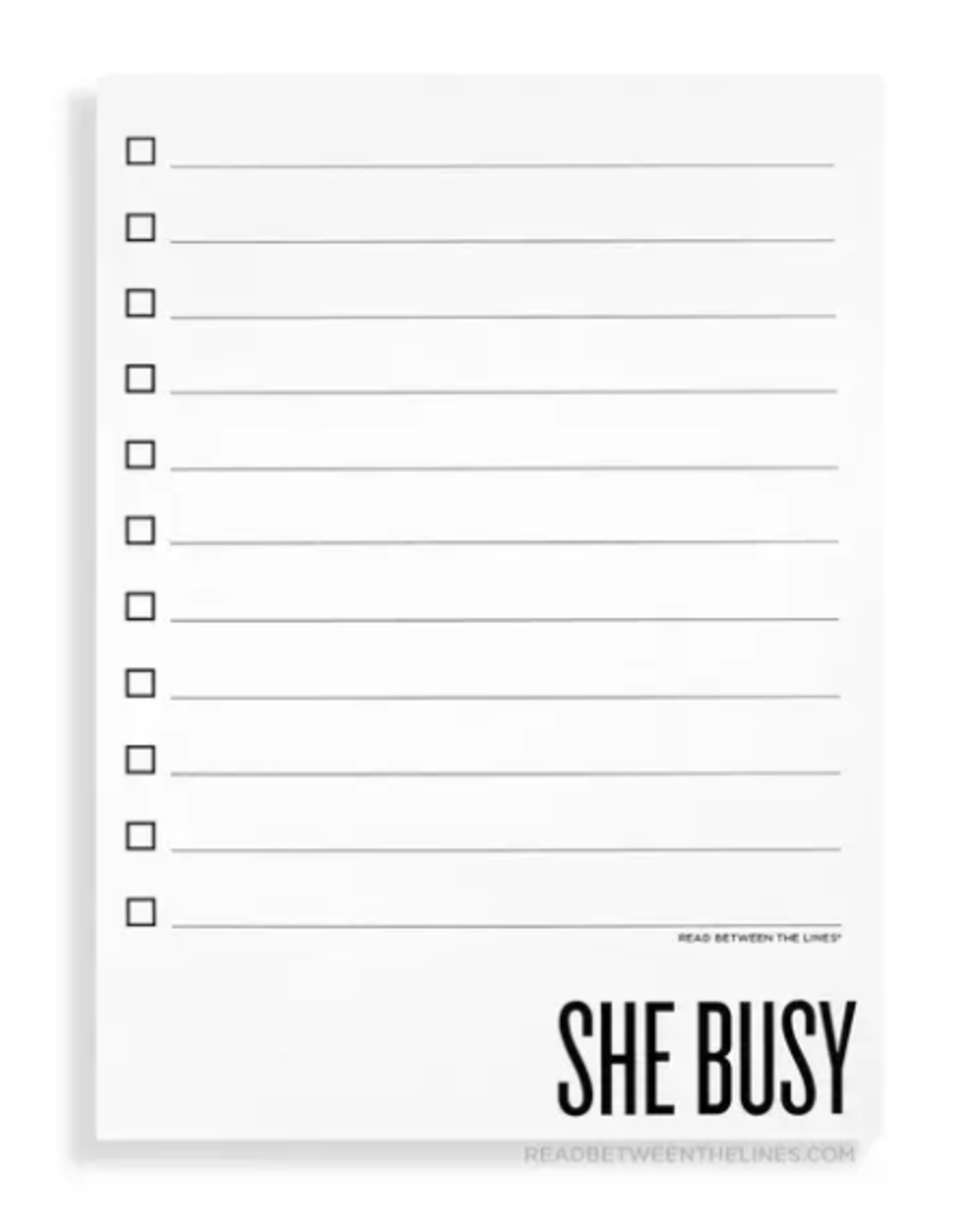 She Busy Notepad