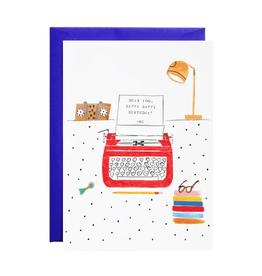 Royal Typewriter Happy Birthday Card