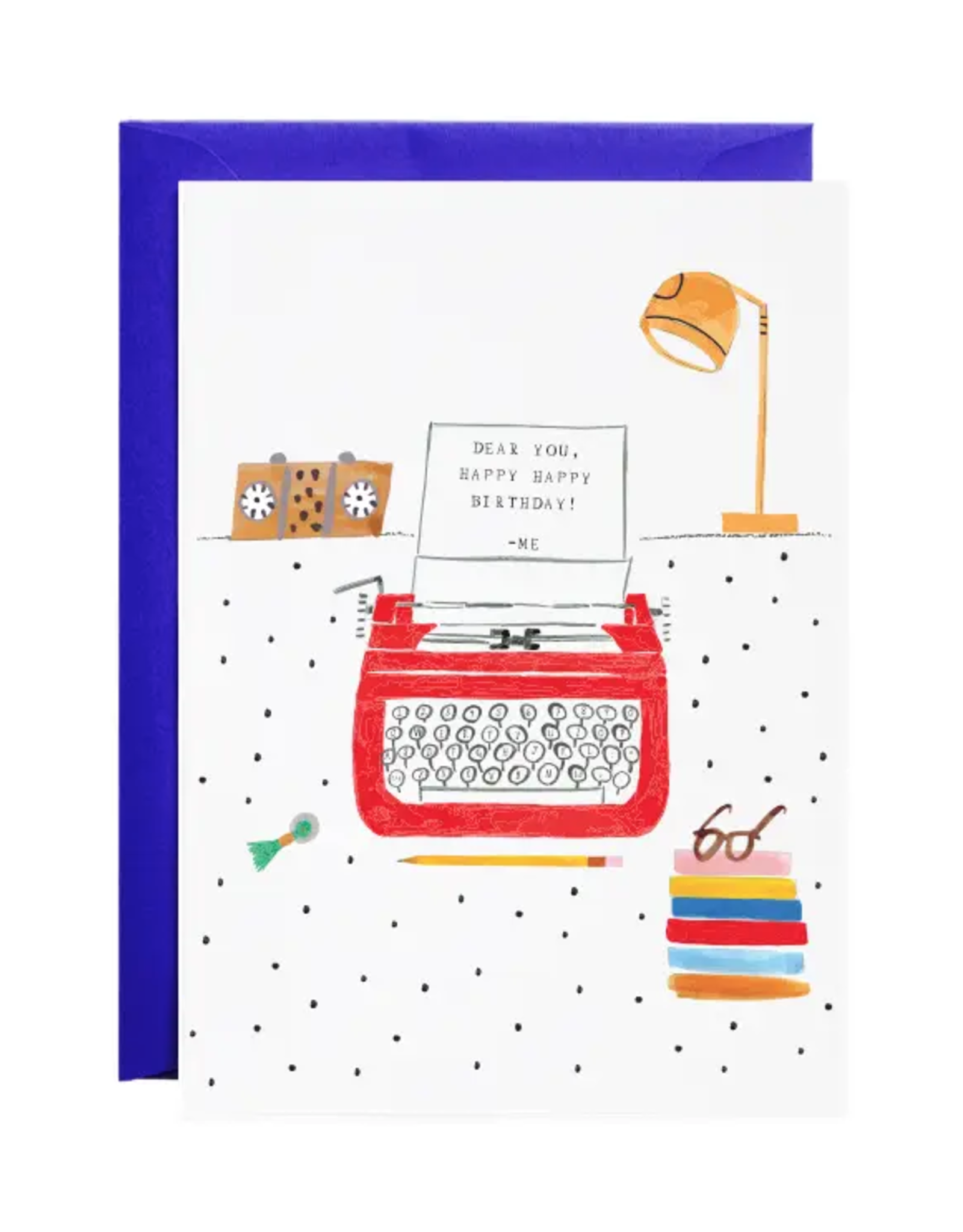 Royal Typewriter Happy Birthday Card