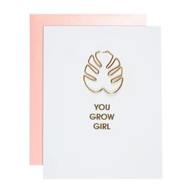 You Grow Girl Paper Clip Card