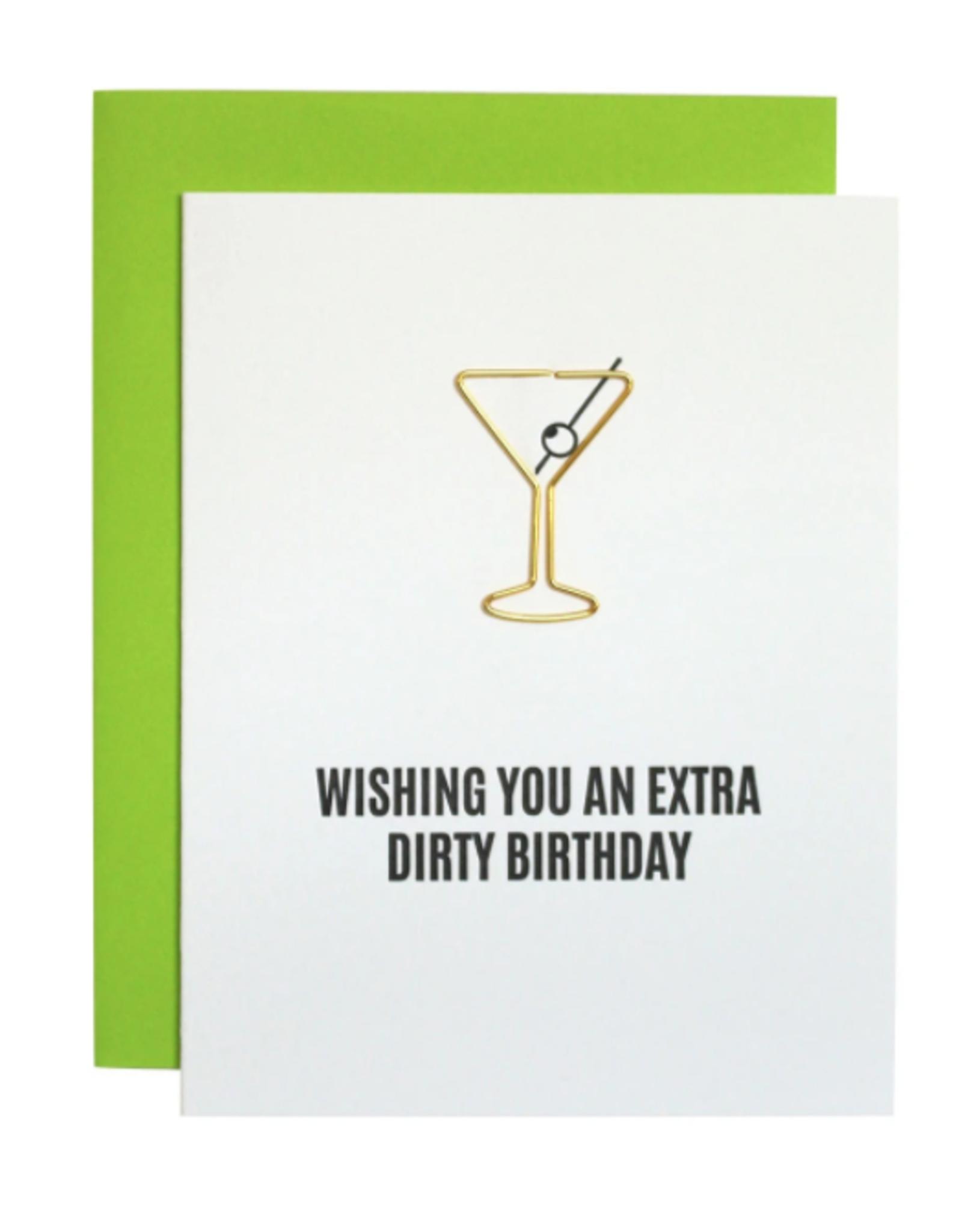 Extra Dirty Martini Birthday Paper Clip Card