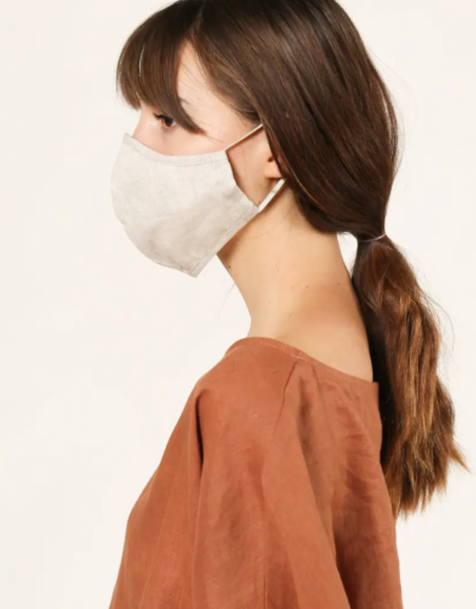 Rounded Linen Face Mask