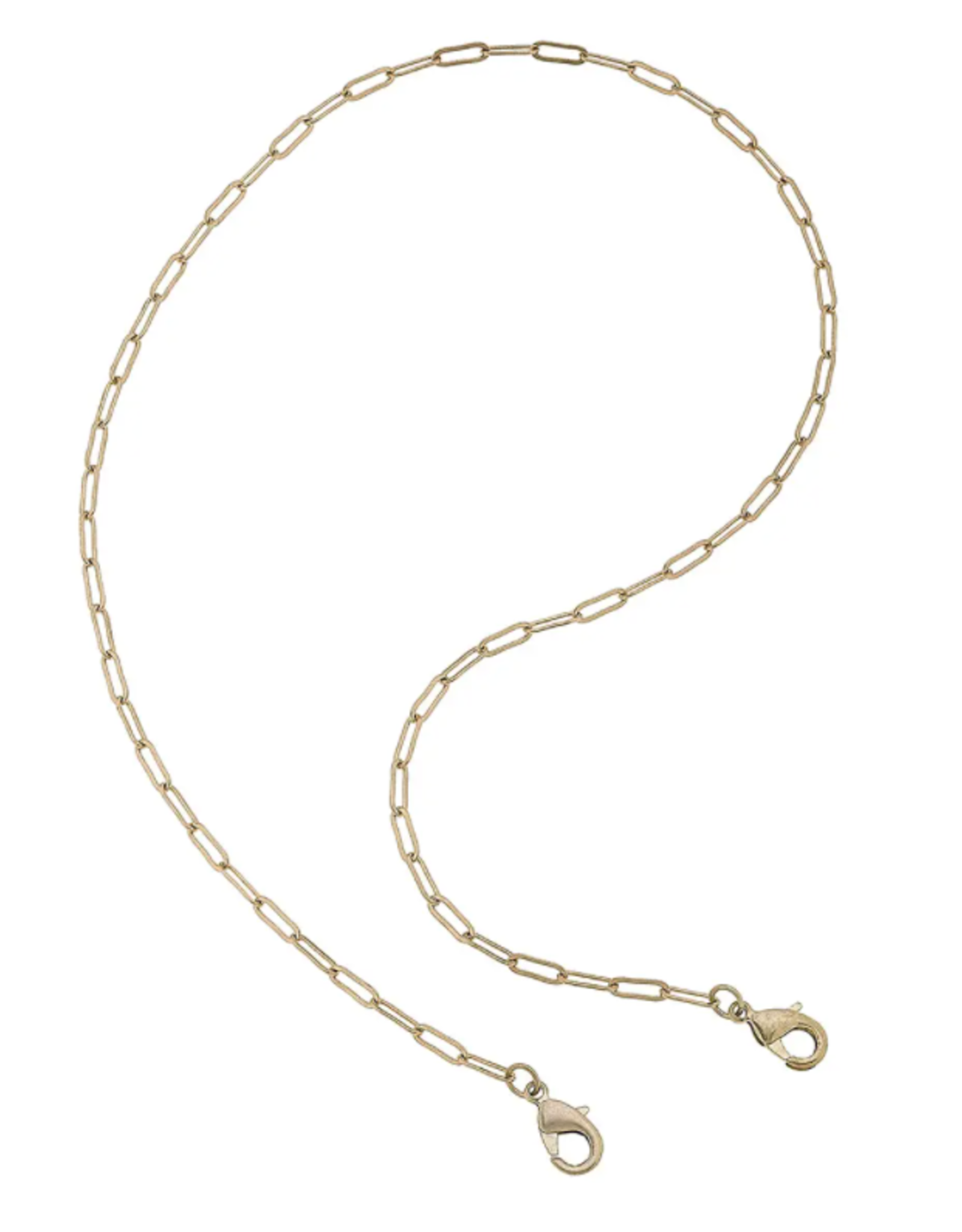 Gold Paperclip Chain Mask Necklace