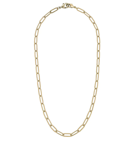 Gold Large Paperclip Chain Mask Necklace