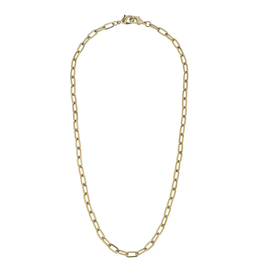 Gold Medium Paperclip Chain Mask Necklace