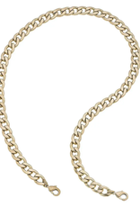 Gold Bold Curved Chain Mask Necklace
