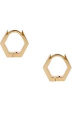 Ari Hexagon Huggies
