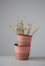 Pink & Red Seagrass Baskets
