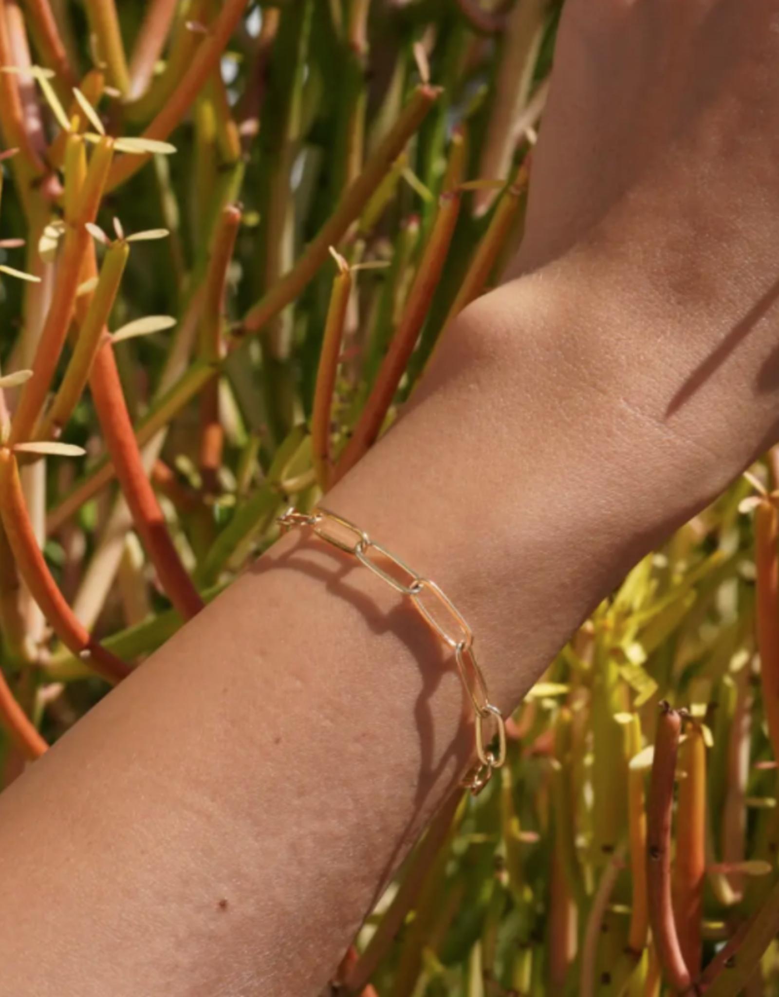Large Lily Link Bracelet