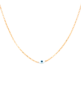 Baby Link Chain with Evil Eye Necklace