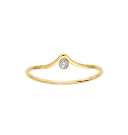 Rowe Arc Ring with CZ