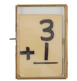 Brass & Glass Photo Frame - 4x6