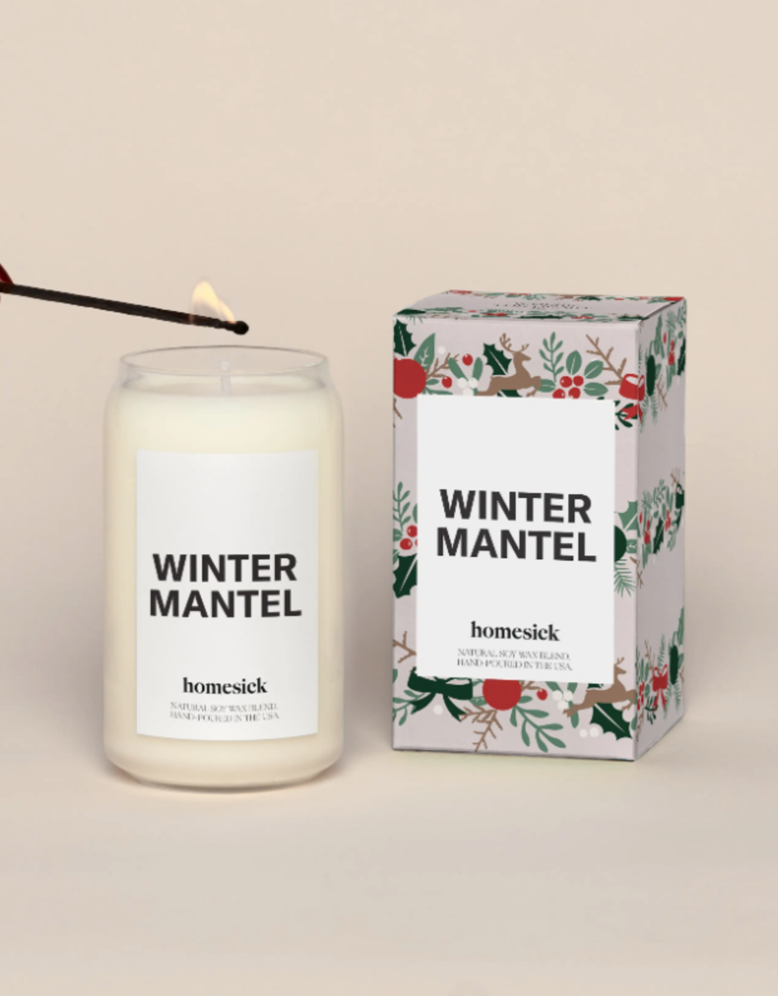 Winter Mantel Candle