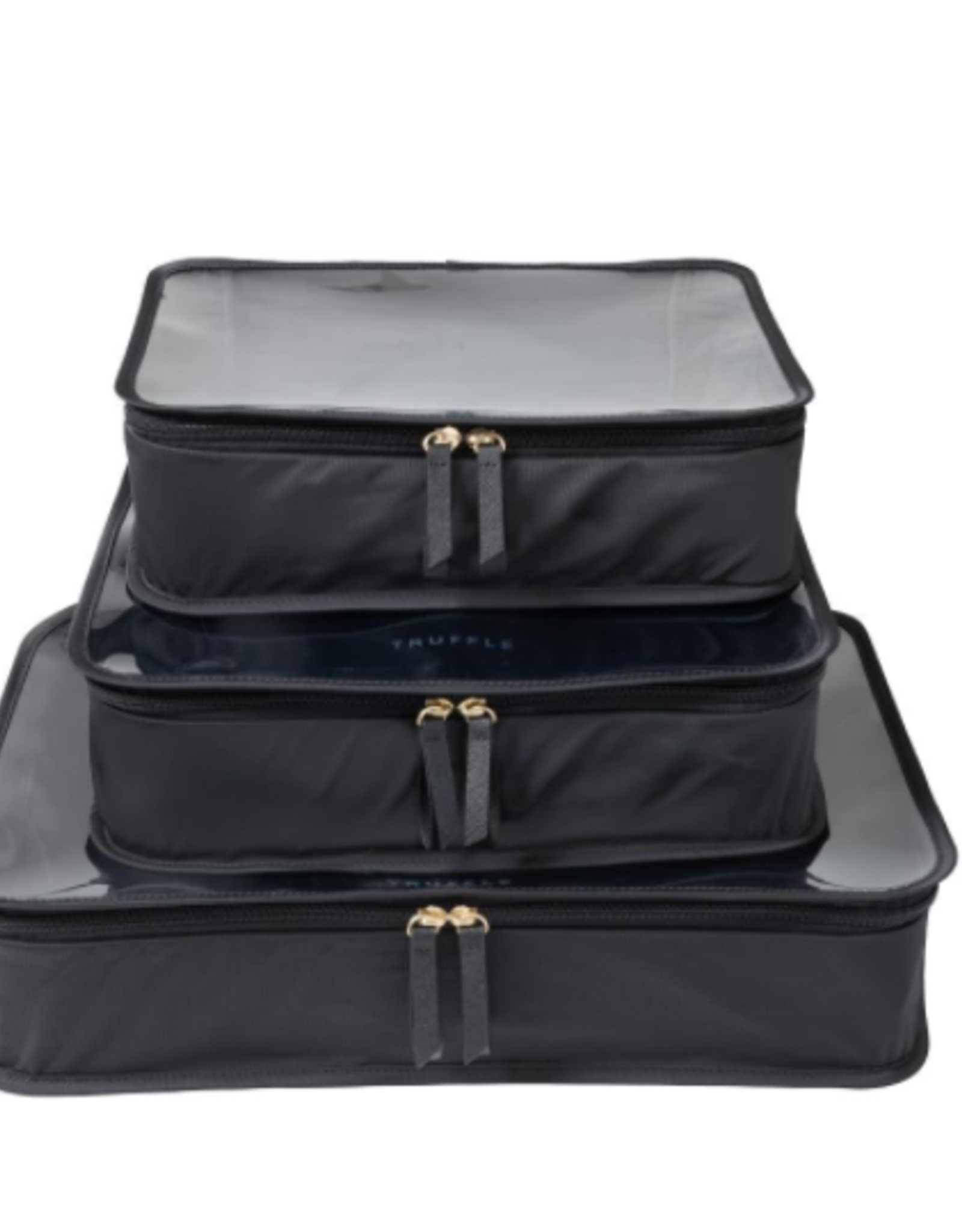 Clarity Packing Cube Trio - Black - Nylon