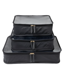 Clarity Packing Cube Trio - Black - Nylon