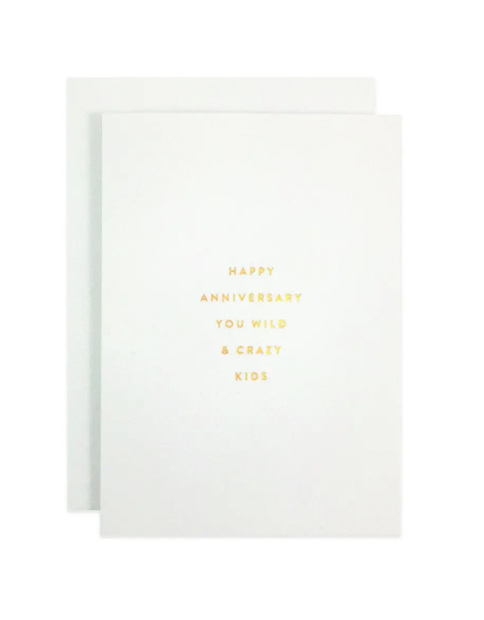 Crazy Kids Anniversary Card