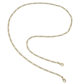 Gold Figaro Chain Mask Necklace