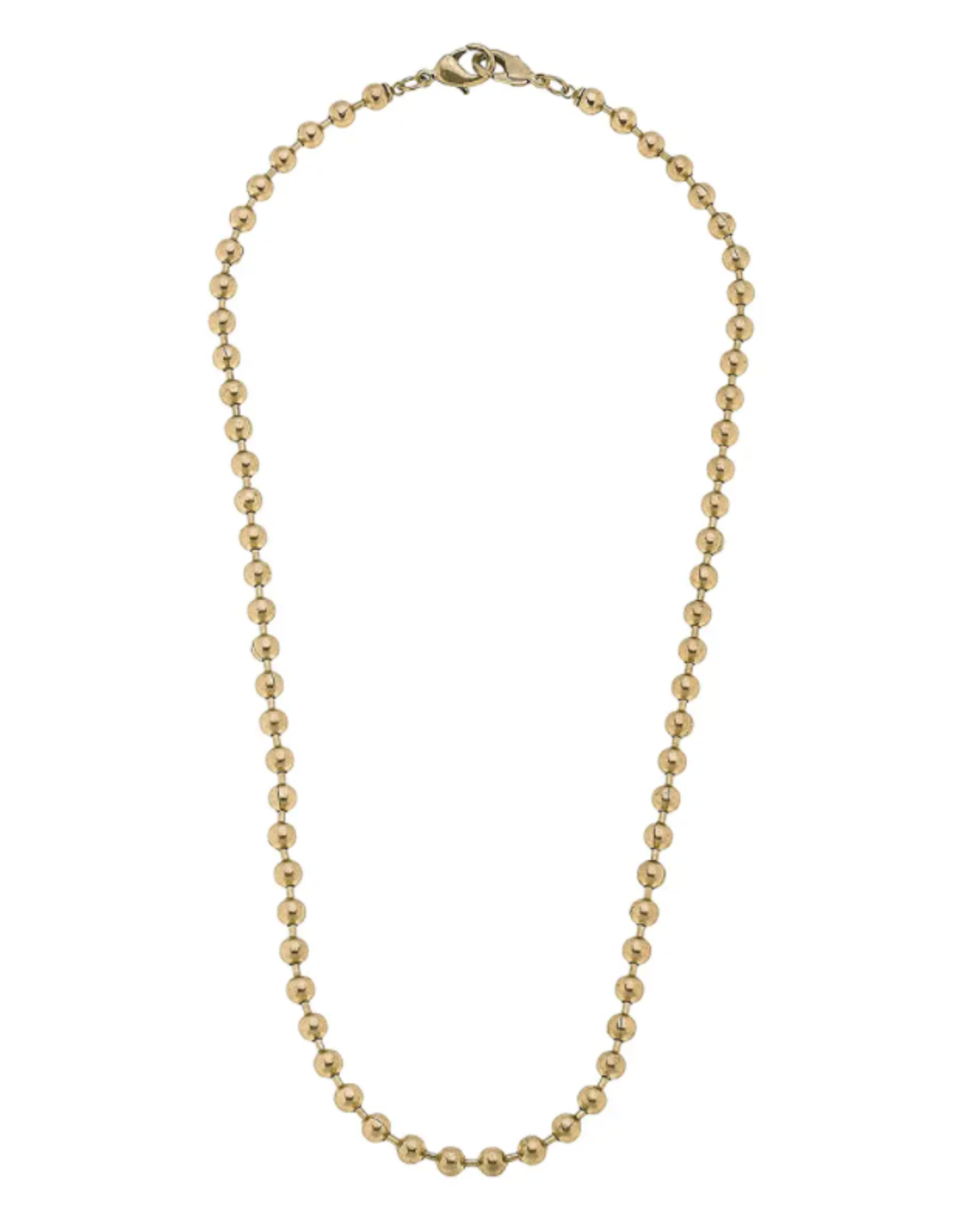 Gold Soleil Ball Chain Mask Necklace