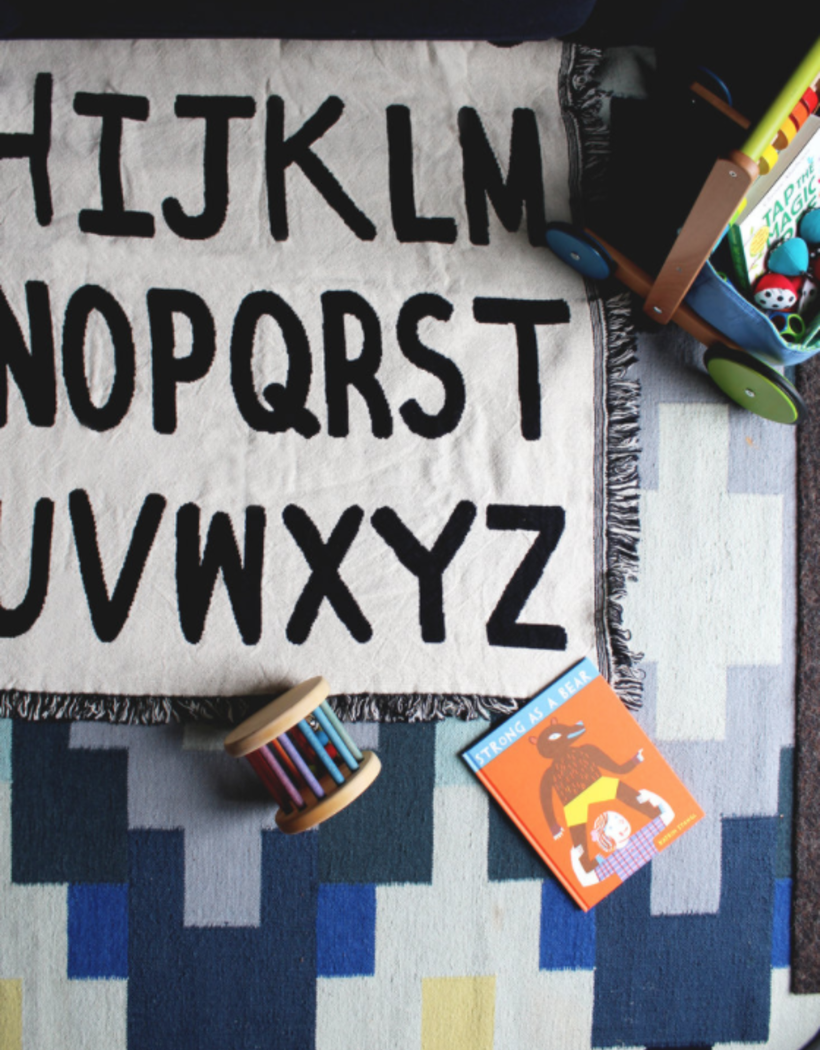 Alphabet Mini Throw Blanket