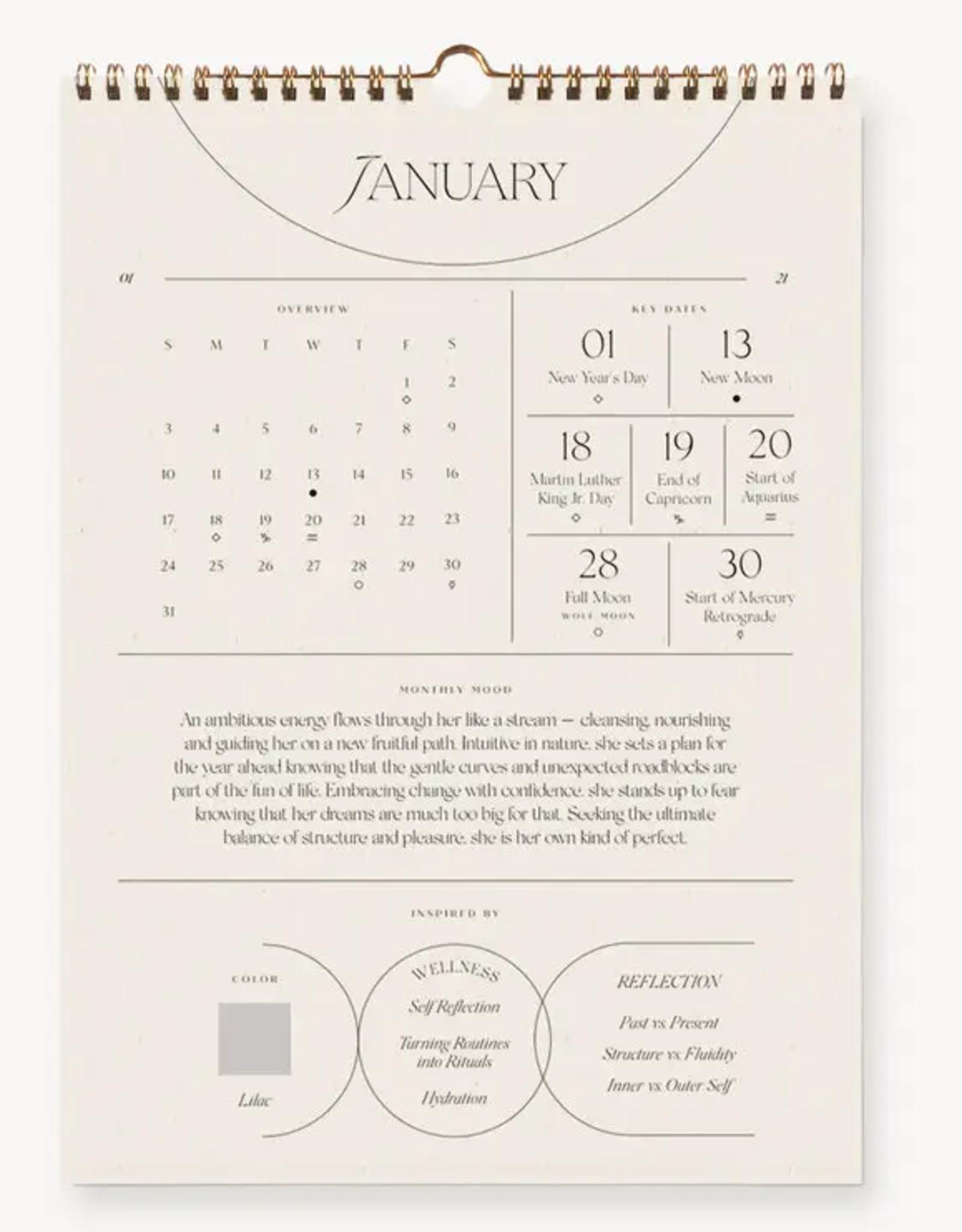 2020 Intentional Wall Calendar