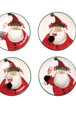 Old St. Nick Cocktail Plates - Set of 4