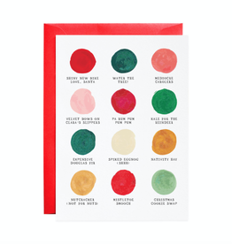 Christmas Palette Holiday Greeting Card