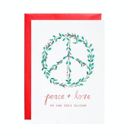 Peace and Love to You Holiday Greeting Card - Boxed Set