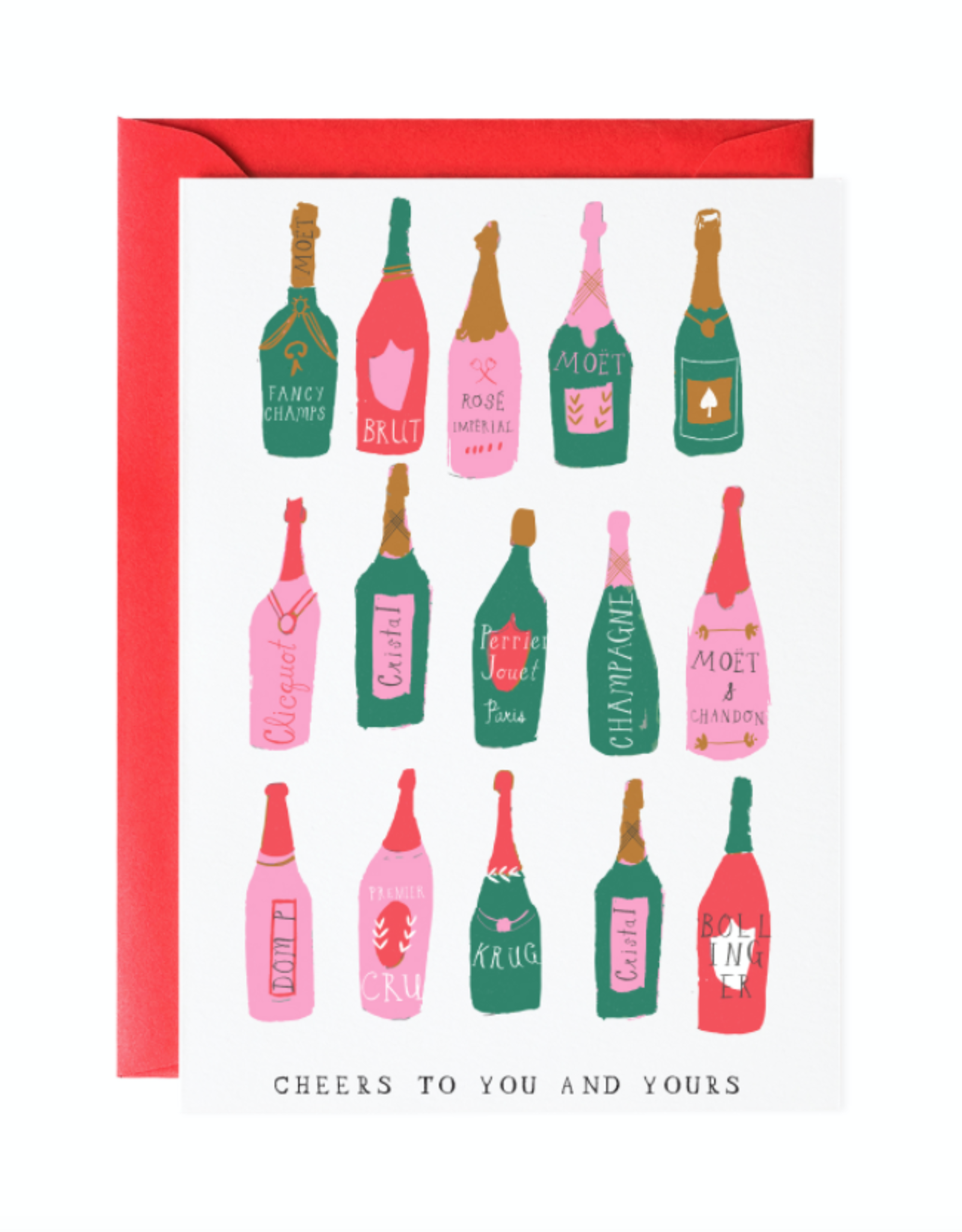 Let's Make a Toast Holiday Greeting Card
