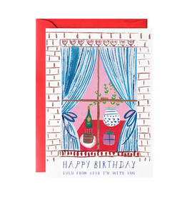 Window Party Birthday Greeting Card