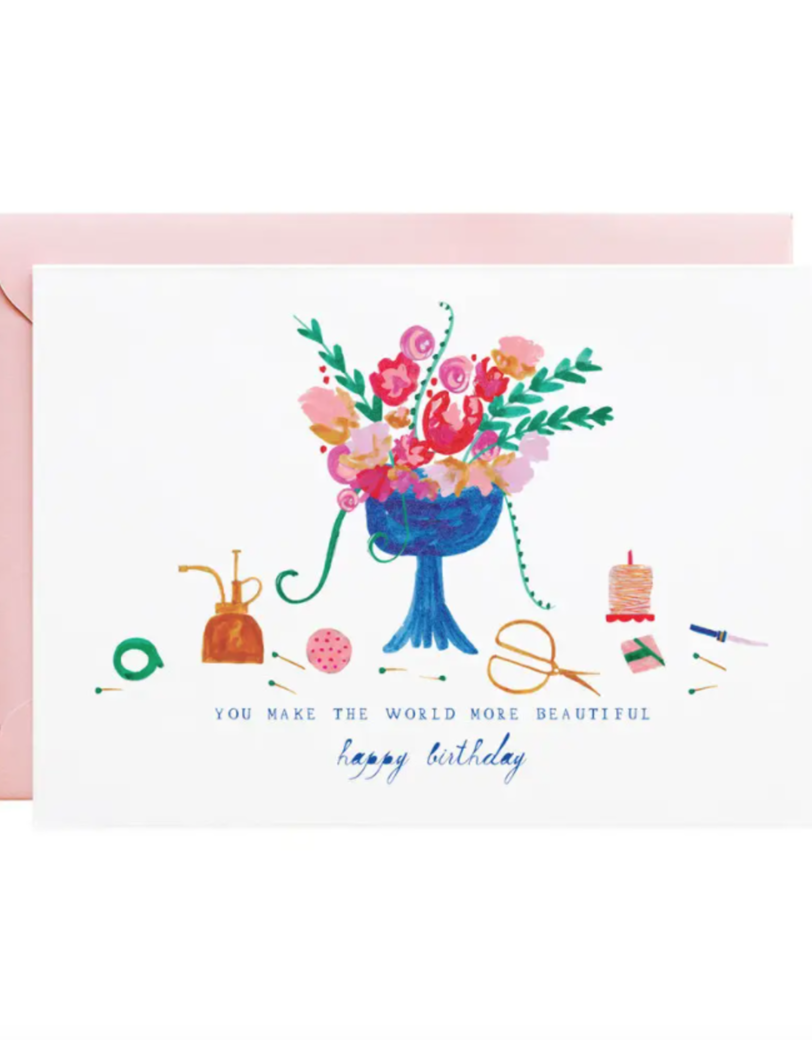 The Florist Called Greeting Card