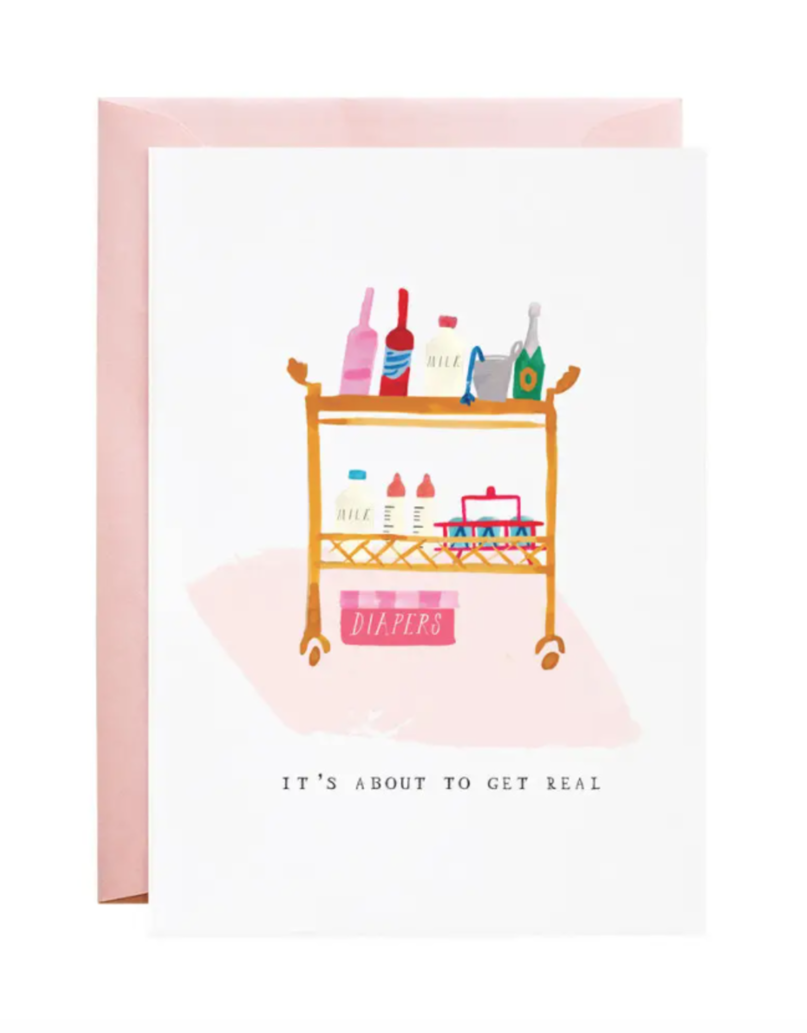 Diapers on the Bar Cart Greeting Card