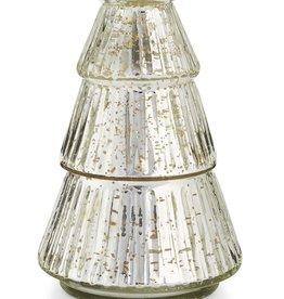Balsam & Cedar Etched Mercury Glass Tree Candle