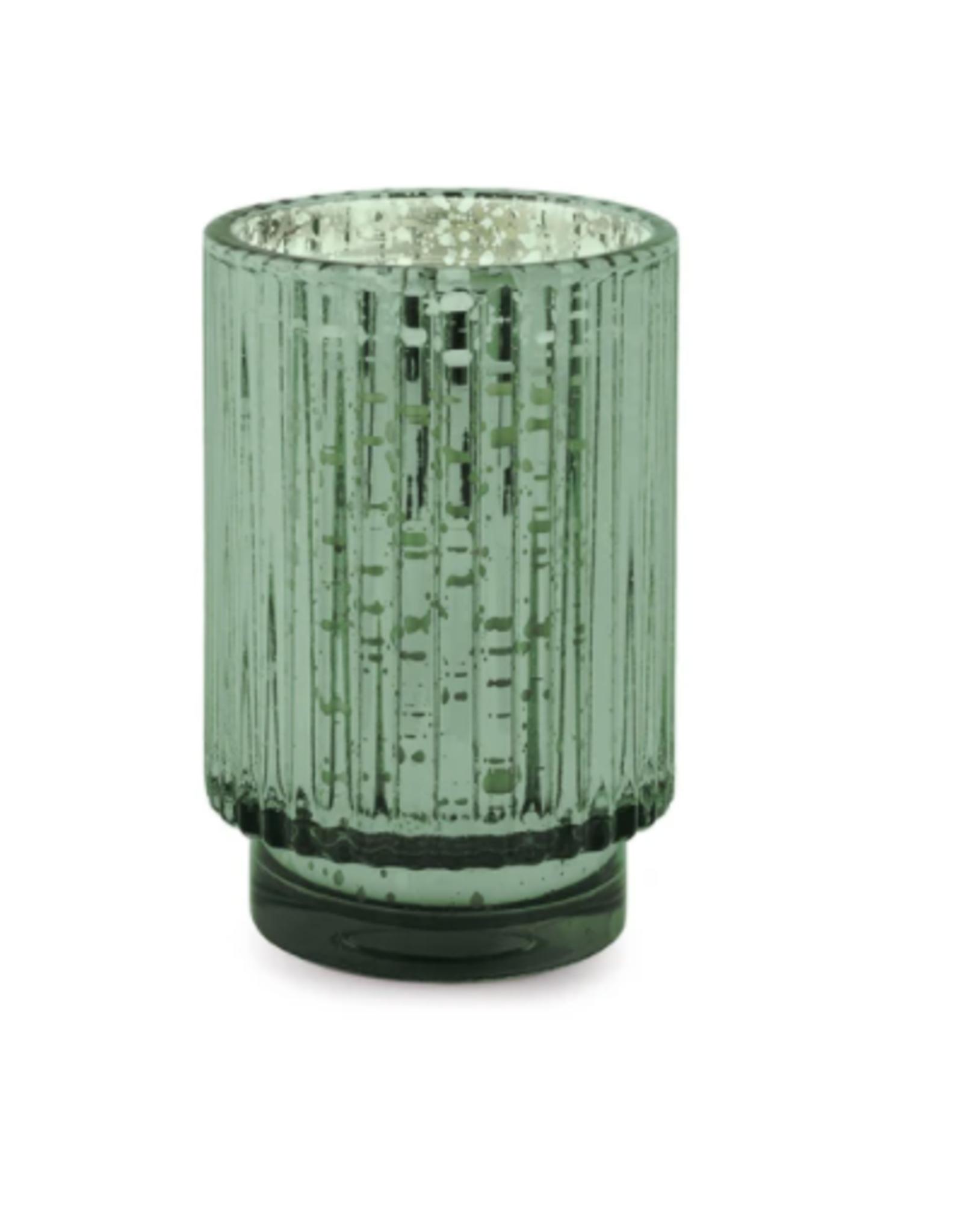 Cypress Fir Tall Green Mercury Glass