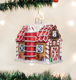 Gingerbread Barn Ornament