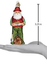 Fly Fishing Santa Ornament